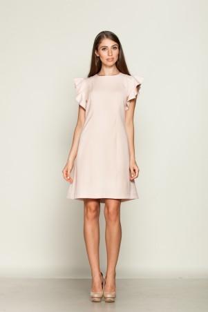 Marterina: Платье-мини с рукавами-воланами цвета пудра K01P14KM14 - главное фото