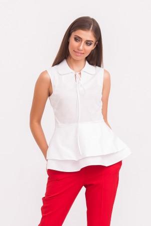 Marterina. Рубашка с двойной баской белая. Артикул: K01R06R01