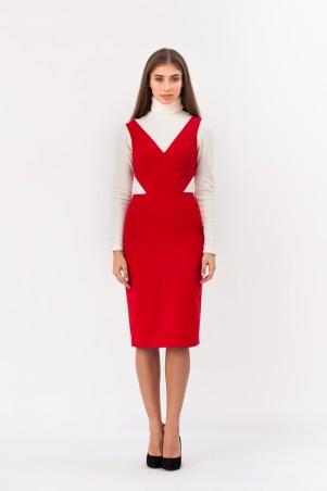 Marterina: Платье-футляр с полу-открытой спиной красное K02P36KM16 - главное фото