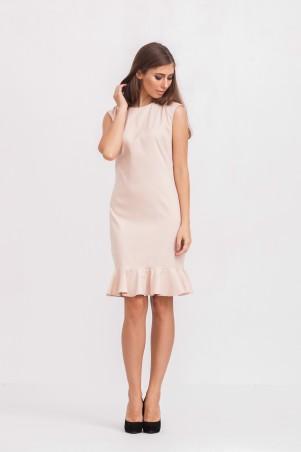 Marterina: Платье с воланом по низу цвета пудра K02P28KM14 - главное фото