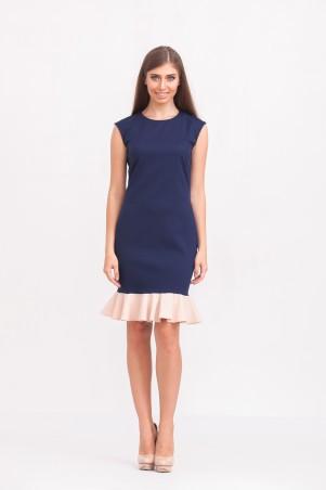 Marterina: Платье с воланом по низу темно-синее K02P28KM18 - главное фото