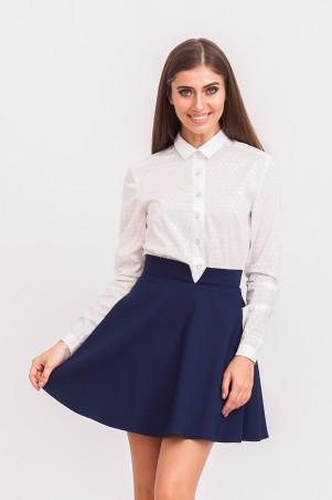 Marterina: Рубашка белая с принтом K02R04CT23 - главное фото