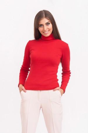 Marterina: Гольф под горло с рукавом красный K02G01TR16 - главное фото