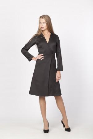 Marterina: Платье с запахом черное K03P40KM19 - главное фото
