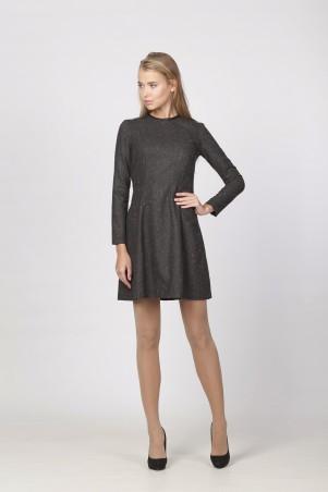Marterina: Платье из черного твида K03P39TW19 - главное фото