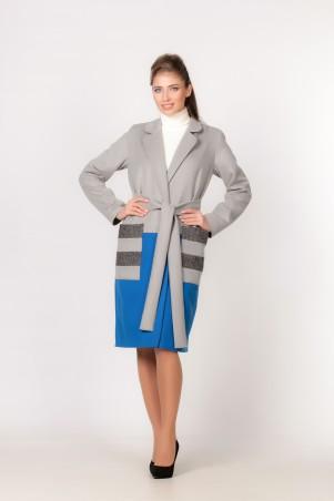 Marterina: Пальто серо-голубое K03C02P21 - главное фото
