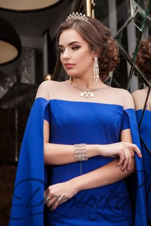 Daminika: Шикарное коктейльное платье-кейп Каролайн 11620 C - главное фото