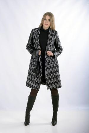 """Me&Me: Пальто """"KELLY"""" черно-белое 205 - главное фото"""