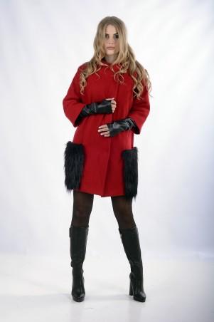 """Me&Me: Пальто """"AMAZYNG""""  красное 7252.1 - главное фото"""
