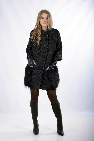 "InRed: Пальто ""AMAZYNG""  черное 7251.1 - главное фото"