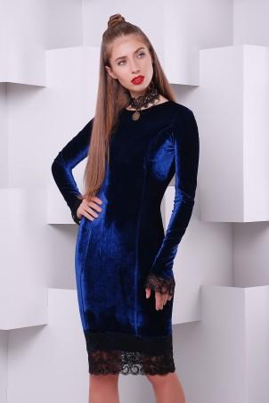 """TessDress: Платье """"Изабелла"""" велюровое 1416 - главное фото"""