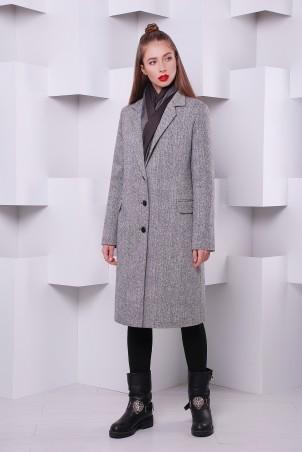 """TessDress: Пальто """"Классик-2"""" из твида утепленное серый 3053 - главное фото"""