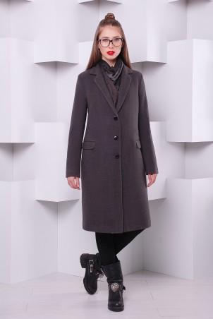 """TessDress: Пальто """"Классик-2"""" утепленное серый 3049 - главное фото"""