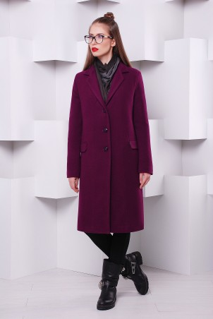"""TessDress: Пальто """"Классик-2"""" утепленное фиолет 3052 - главное фото"""