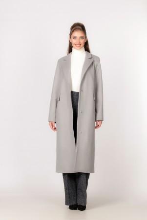Marterina: Пальто прямого силуэта серое K03C03P10 - главное фото