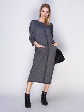 Loca: Платье Платье DW28_серыймурино_Loca - главное фото