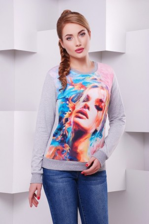 "FashionUp: Свитшот ""Cotton"" KF-1410C - главное фото"