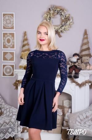 Tempo: Платье Клер синий - главное фото