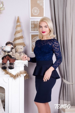 Tempo: Платье Джули синий - главное фото