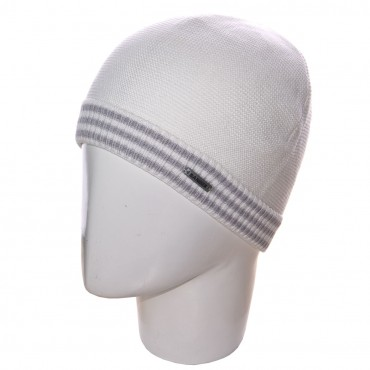 Sofi: Шапка 12051 белый-светло-серый - главное фото