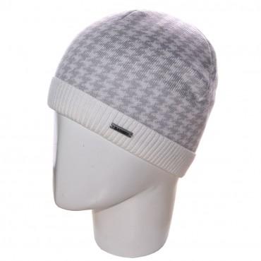 Sofi: Шапка 12030 белый-светло-серый - главное фото