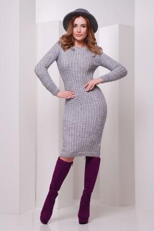 MarSe: Вязаное Платье 135 темно-серый - главное фото