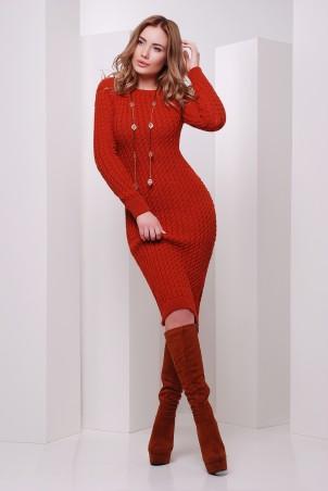MarSe: Вязаное Платье 135 терракот - главное фото