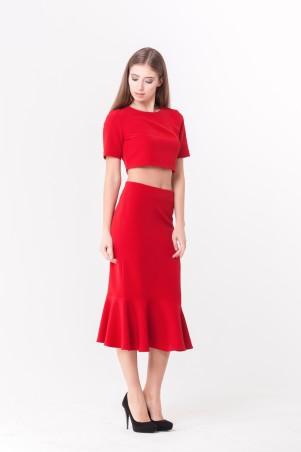 """Marterina. Костюм """"Топ с открытой спиной и юбка с воланом"""" красный. Артикул: K04K03KM16"""