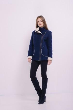 Lilo. Синее короткое пальто на меху. Артикул: 8102