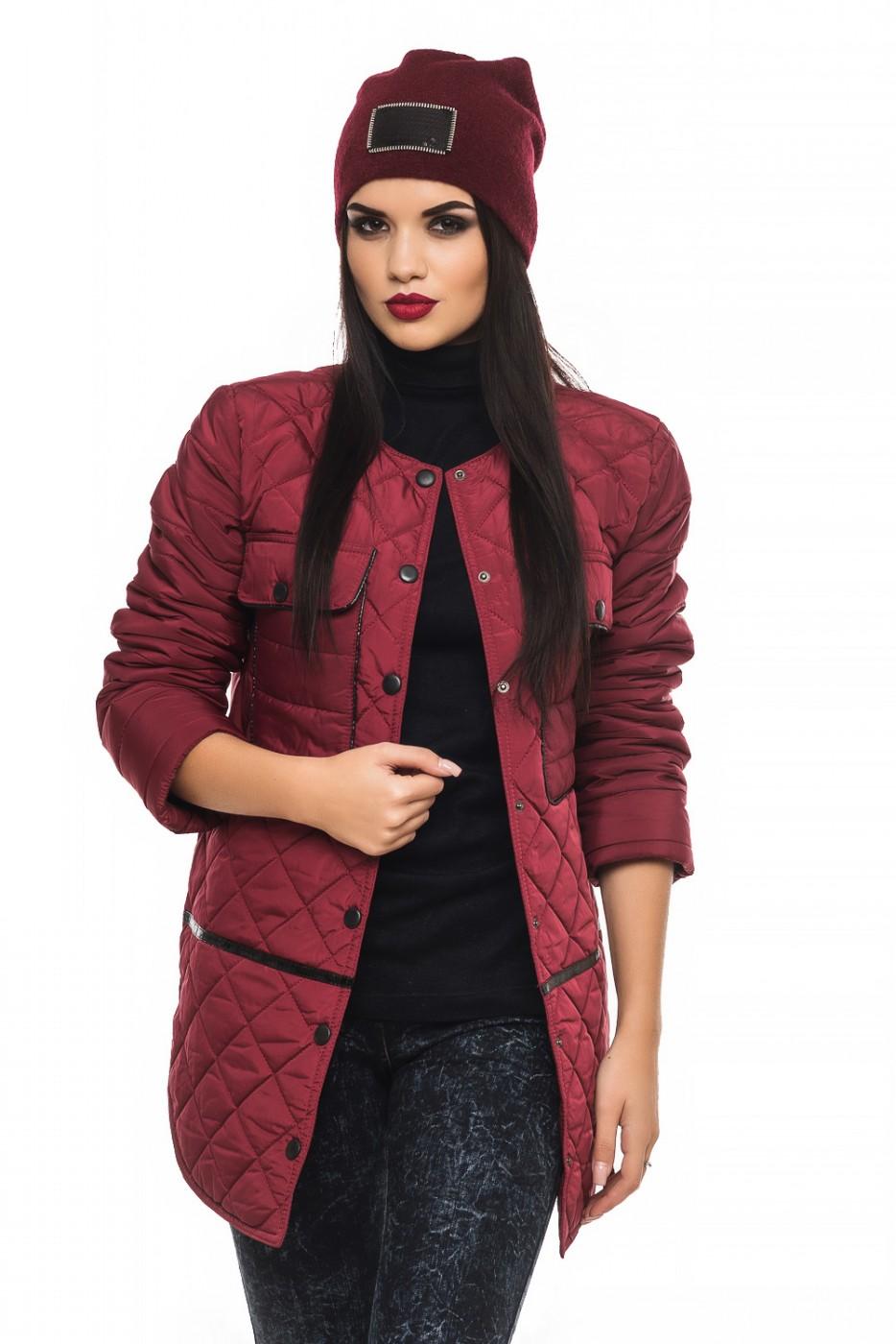 30d2f7a622e Куртка деми Лера-бордо цвета от