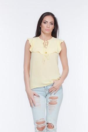 Marterina. Блуза с воланом на кокетке желтая. Артикул: K05BL01KS13