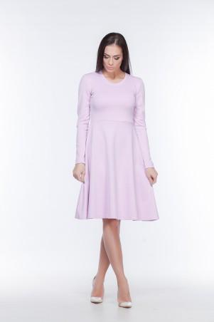 Marterina. Платье с рукавом и юбкой-трапецией розовое. Артикул: K05P07TR11