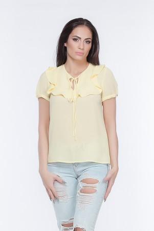 Marterina. Блуза с коротким рукавом желтая. Артикул: K05BL02KS13