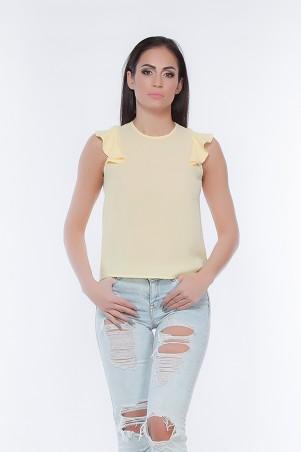 Marterina. Блуза с плечиками- воланами желтая. Артикул: K05BL03KS13