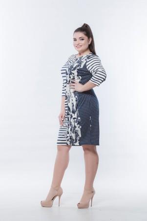 Marterina. Платье-футляр с рукавом 3/4 принт леди. Артикул: K06P52TR41