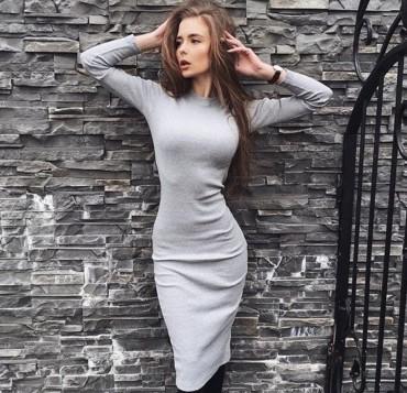 Tali Ttes. Платье серое. Артикул: 2016021