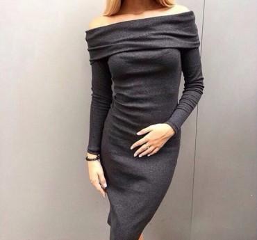 Tali Ttes. Платье с открытыми плечами миди. Артикул: 2016020