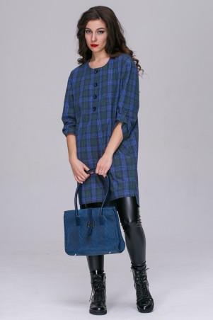 Jet: Платье-туника Шарлот Клетка3 сине-зелен 1049.3-5640 - главное фото