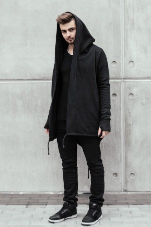 MFS BRAND. Мантия утепленная черная со шнурками. Артикул: 25400