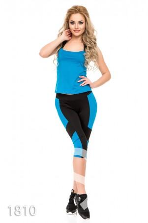 ISSA PLUS: Спортивные костюмы 1810_черный/голубой - главное фото