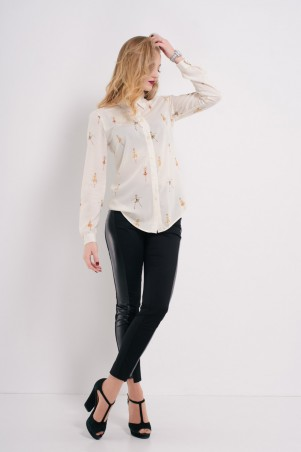 "Ляпота. Блузка-рубашка ""балерина"". Артикул: 1058"