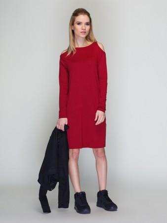 Loca. Платье. Артикул: Платье DW140_бордо_Loca
