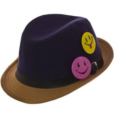 Cherya Group. Шляпа фетровая детская. Артикул: FD16003 тёмно-синий