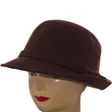 Cherya Group. Шляпа фетровая. Артикул: F16009 тёмно-коричневый