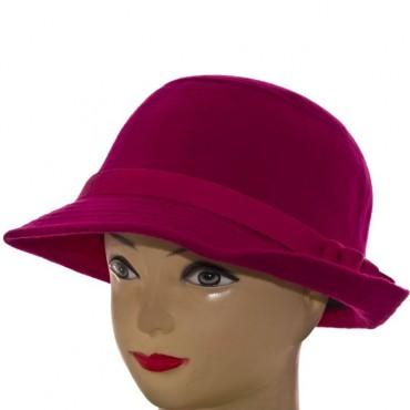 Cherya Group. Шляпа фетровая. Артикул: F16009 малиновый