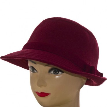 Cherya Group. Шляпа фетровая. Артикул: F16009 бордовый