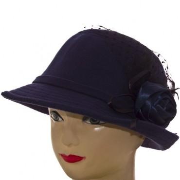 Cherya Group. Шляпа фетровая. Артикул: F16008 тёмно-синий