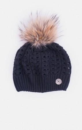MR520 Women. Вязаная шапка косами. Артикул: MR 226 2015 0815 Black