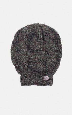 MR520 Women. Вязаная шапка косами. Артикул: MR 226 2016 0815 Khaki