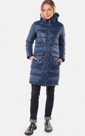 MR520 Women: Куртка зимняя (пуховик) MR 202 2203 0816 Dark Blue - главное фото
